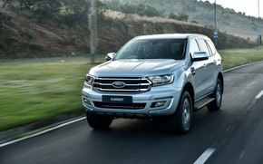 Picture road, movement, Ford, Everest, 4WD, XLT, 2019