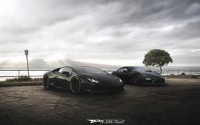 Picture Auto, Black, Lamborghini, Machine, Machine, Porche, Rendering, Boxter, Huracan, Lamborghini Huracan, by DRAFT |SAJEN|, DRAFT …