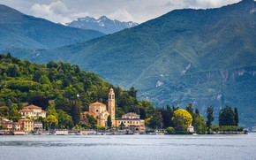Picture water, lake, mountain, Italy, Como