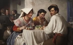 Picture 1866, Danish painter, Copenhagen, Danish realist painter, Statens Museum for Kunst Copenhagen, National Gallery of ...
