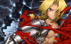Picture guy, Edward, blonde, Fullmetal Alchemist, Fullmetal Alchemist, flaps
