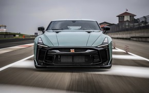 Picture track, Nissan, GT-R, front view, R35, Nismo, ItalDesign, 2020, V6, GT-R50, 720 HP