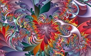 Picture pattern, fractal, 3D graphics