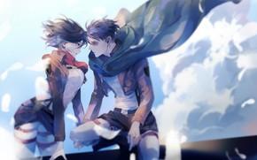 Picture Attack Of The Titans, Shingeki No Kyojin, Mikasa Ackerman, Levi