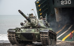 Picture shore, tank, landing