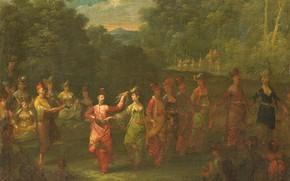 Picture oil, picture, canvas, 1737, Жан Батист Ван Мур, Jean Baptiste Vanmour, Греческие мужчины и женщины …