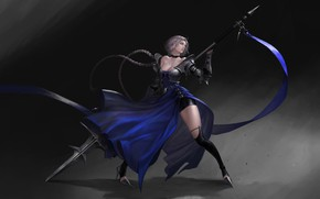 Picture Girl, Minimalism, Style, Girl, Dress, Lancer, Art, Art, Style, Spear, Minimalism, Dress, Spear, by Kim …