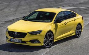 Picture asphalt, yellow, Insignia, Opel, 2018, Insignia Grand Sport