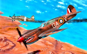 Picture Saetta, WWII, RAF, P-40, Regia Aeronautica, North Africa, 112 Squadron, Macchi C. 200, Kittyhawk Mk.IA
