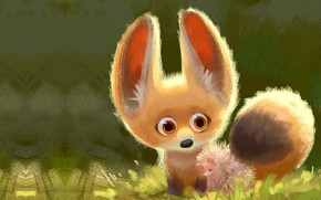 Picture art, Fox, friends, hedgehog, children's, Lynn Chen, Cuddle