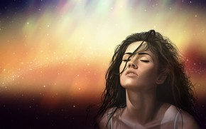 Picture Megan Fox, Figure, Lips, Face, Hair, Portrait, Actress, Megan, Art, Art, Beauty, Face, Actress, Lips, …