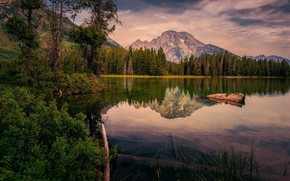 Picture the sky, mountains, lake