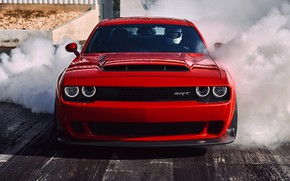 Picture dodge, drag racing, the smoke from under the wheels, dodge demon