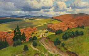 Picture German painter, German landscape painter, oil on canvas, The Dusseldorf school of art, Düsseldorf school …