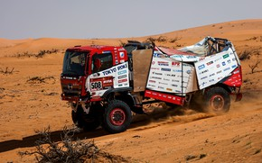 Picture sand, desert, truck, rally, 500, Ranger, 2021, Hino