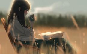 Picture girl, nature, tea