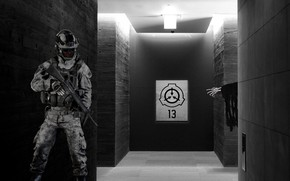 Picture soldier, monster, horror, Fund, scp, secure, violation, protect, foundation, contain, by Pyrus-acerba
