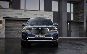Picture BMW, 2018, crossover, SUV, 2019, BMW X7, X7, G07, house wall