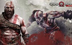 Picture hate, demigod, god of war, kratos, man, warrior, god, powerful, strong, fury, bald, blade of …