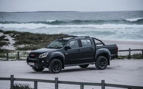 Picture black, coast, pickup, Isuzu, D-Max, 2019, X-Rider Black