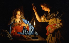 Picture picture, mythology, The Annunciation, Matthias Stom, Matthias Stom