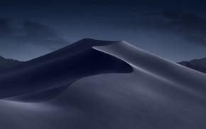 Picture sand, night, desert, barkhan