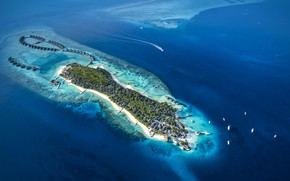 Picture the ocean, island, resort, Maldives, Jumeirah Vittaveli resort