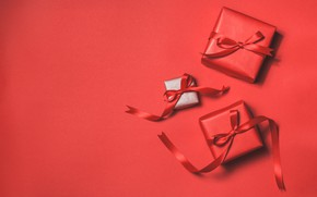 Picture red, background, Love, gifts, Romantic, Valeria Maksakova