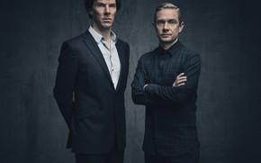 Picture background, two, Sherlock Holmes, Martin Freeman, Benedict Cumberbatch, Sherlock, Sherlock BBC, Sherlock Holmes, John Watson, …