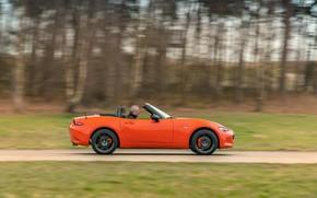 Picture orange, profile, Mazda, Roadster, MX-5, 30th Anniversary Edition, 2019