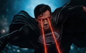 Picture cinema, superman, movie, film, powerful, strong, justice league, black suit, Zack Snyder's Justice League, heat …