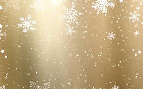 Picture winter, snow, snowflakes, background, golden, Christmas, winter, background, snow, snowflakes