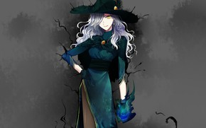 Picture girl, background, hat, witch, Fate / Grand Order