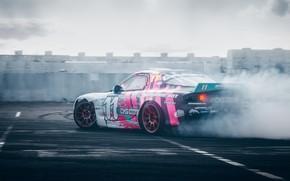 Picture smoke, drift, Mazda, drift, RX-7, 2019, by RaY29rus