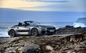 Picture water, grey, shore, BMW, Roadster, BMW Z4, M40i, Z4, 2019, G29