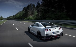 Picture white, speed, Nissan, GT-R, R35, Nismo, video, 2020, 2019