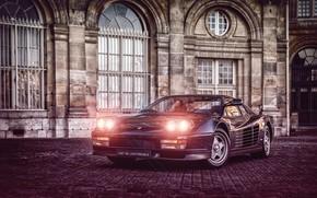 Picture Auto, Machine, Ferrari, Light, Ferrari, Lights, Sports car, Testarossa, F512 M, 512 TR, Ferrari Testarossa, …