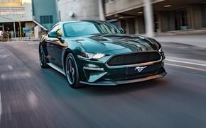 Picture speed, Mustang, Ford, Bullitt, 2019