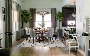 Picture room, interior, dining room, Craftsman interior