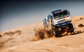 Picture Sand, Sport, Machine, Speed, Truck, Master, Russia, Kamaz, Rally, KAMAZ-master, Rally, KAMAZ, The roads, RedBull, …