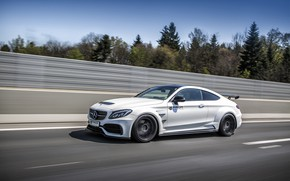 Picture Mercedes-Benz, speed, AMG, Coupe, C63, Widebody, Prior-Design, C-Class, 2017, C205, PD65CC