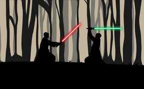 Picture Star Wars, Sword, Silhouette, Art, Lightsaber, Lightsabers, StarWars, The fight, Star Wars, Akshay Kumar, Swordsmen, …