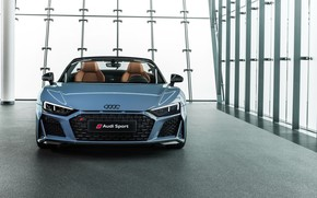 Picture Audi R8, front view, Spyder, V10, 2019