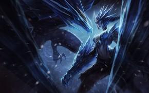 Picture Fantasy, Dragon, Art, Winter, Snow, League of Legends, Ice, Illustration, LoL, Game Art, Henukim, by …