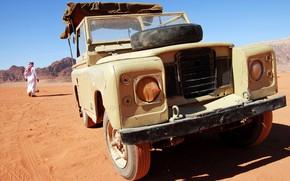 Picture metal, desert, jeep