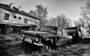 Picture machine, house, monochrome