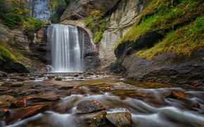 Picture landscape, river, waterfall