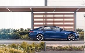 Picture Jaguar, Parking, sedan, in profile, Jaguar XF, 2020, XF