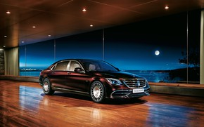 Picture Mercedes-Benz, sedan, Maybach, 2018, S-Class, S650