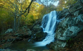 Picture landscape, nature, lake, stones, waterfall, beauty, slope